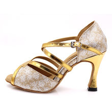Samisoler Glitter Cut-Outs shoes woman latin dance tango jazz salsa Ballroom Fashion