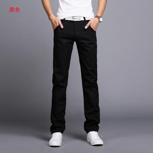 Spring Autumn New Casual Pants Men Cotton Slim Fit Brand Clothing Plus Size 9 colour 919