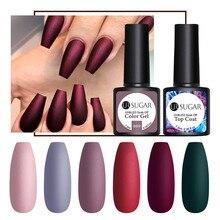 Ur Sugar 7,5 мл матовый цветной УФ-гель для ногтей чистый лак для ногтей матовое верхнее покрытие замачиваемый Гель-лак для дизайна ногтей маникюрный лак основа сделай сам