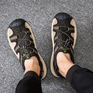 Image 5 - Sandales hommes été 2019 décontracté hommes sandale chaussures sans lacet homme Sandles plage en plein air Trekking en caoutchouc chaussure respirante grande taille 49