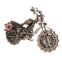 Vintage metalowe rękodzieło motocykl model motocykla ozdoba dekoracyjna domu prezent w Motocykle RC od Zabawki i hobby na