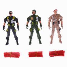9 см десантники парашют солдаты дети дети открытый спорт рука бросок игрушка B36E
