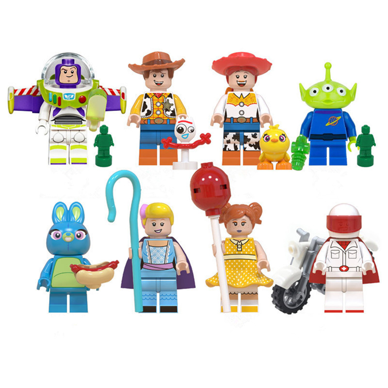 Building-Blocks Toy-Story Action-Figures Aliens Birthday Buzz Lightyear Forky Gaby Mini