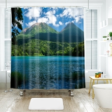 3d Landscape Pattern Beautiful Country Scene Shower Curtains Waterproof Thickened Bath for Bathroom Customizable