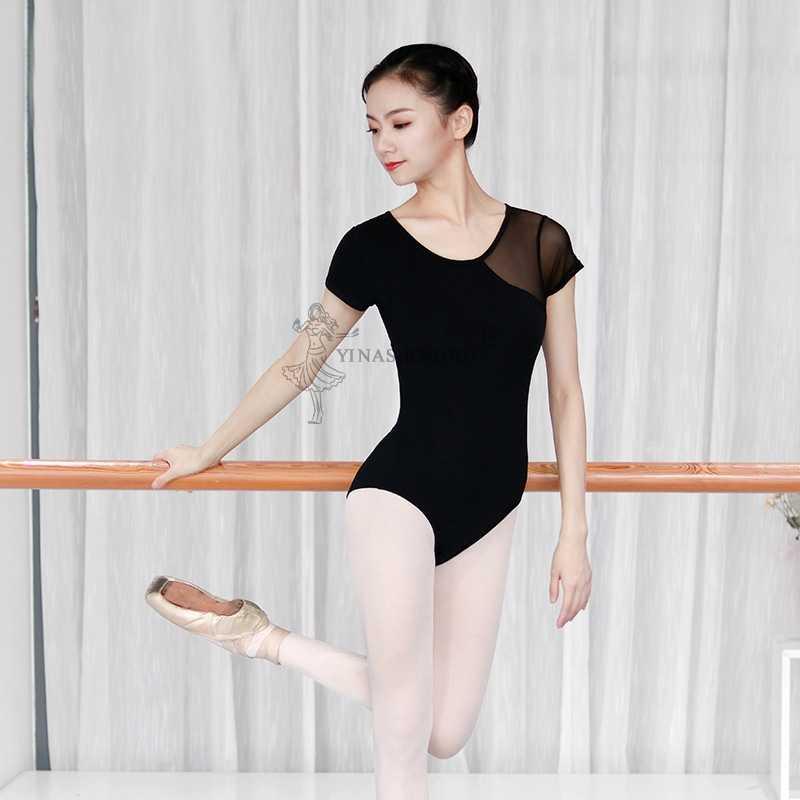 大人バレエダンスメッシュステッチ BackLeak バレエレオタード大人のバレエ練習ダンサー衣装プロの体操レオタード