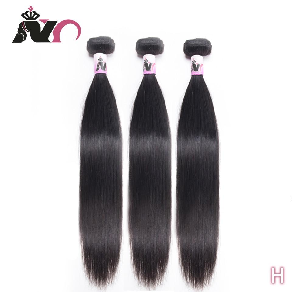 NY Hair Straight Hair Bundles Brazilian 100% Human Non-Remy Hair Extension 3 Bundles Deals Natural Color Hair For Black Women