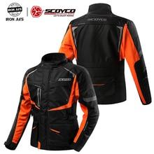 SCOYCO Motorcycle Clothing Protective Jacket Waterproof Warm Winter Motorcycle Vest Grid Material Elbow Shoulder Back Protector