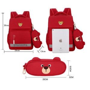Image 4 - 소년 소녀를위한 정형 외과 satchel 배낭 어린이 초등학교 가방 어린이 경량 대용량 bookbags mochila infantil