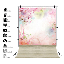 Laeacco Pink Watercolor Dots Marble Wall Pattern Wood Floor Baby Portrait Photography Background Photo Backdrop For Photo Studio