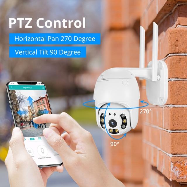 MISECU H.265X PTZ Wifi IP Camera 1080P 5MP Speed Dome AI Security Camera Wireless 2 Way Audio Outdoor Waterproof IR Color Night 2
