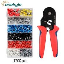 hsc8 6-4a mini nose crimping pliers wire stripper crimper tool cable crimper stripper+1800pcs ferrule terminal set