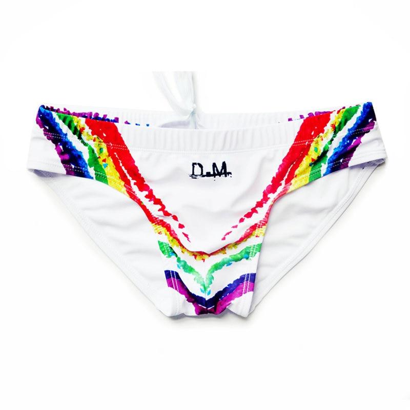 Cuecas de natação sexy masculinas, d.m, 2020, natação, troncos, praia, calção de banho, jovem gay