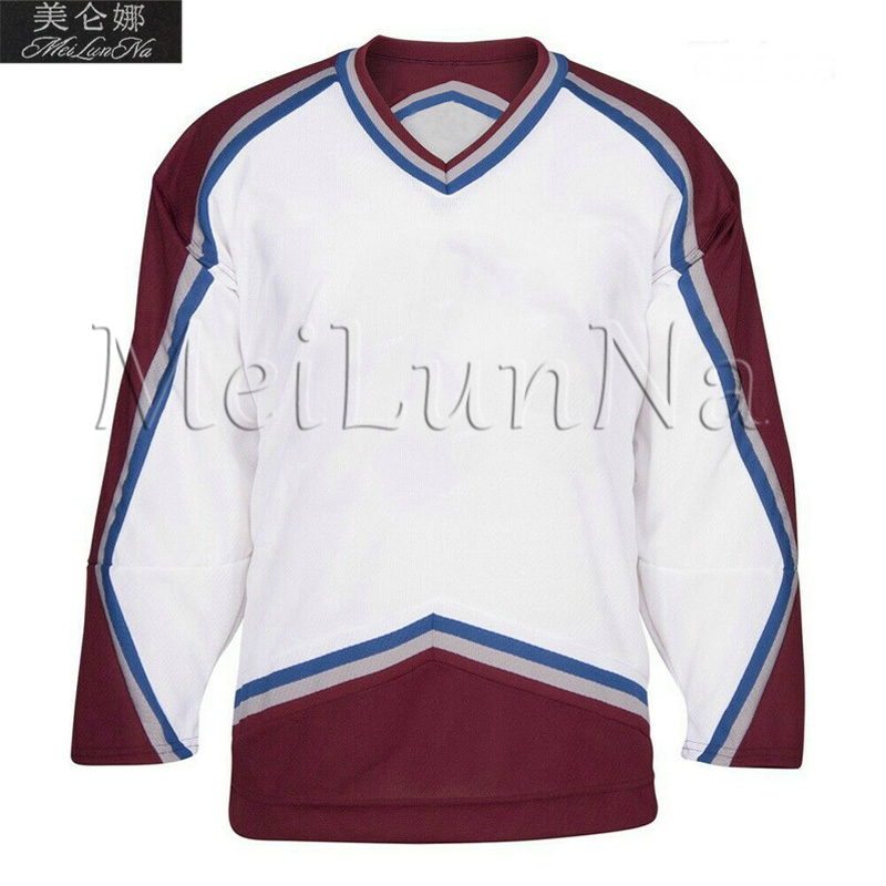 Paul Kariya Teemu Selanne Joe Sakic Peter Forsberg Patrick Roy Adam Foote Colorado Retro Hockey Jerseys