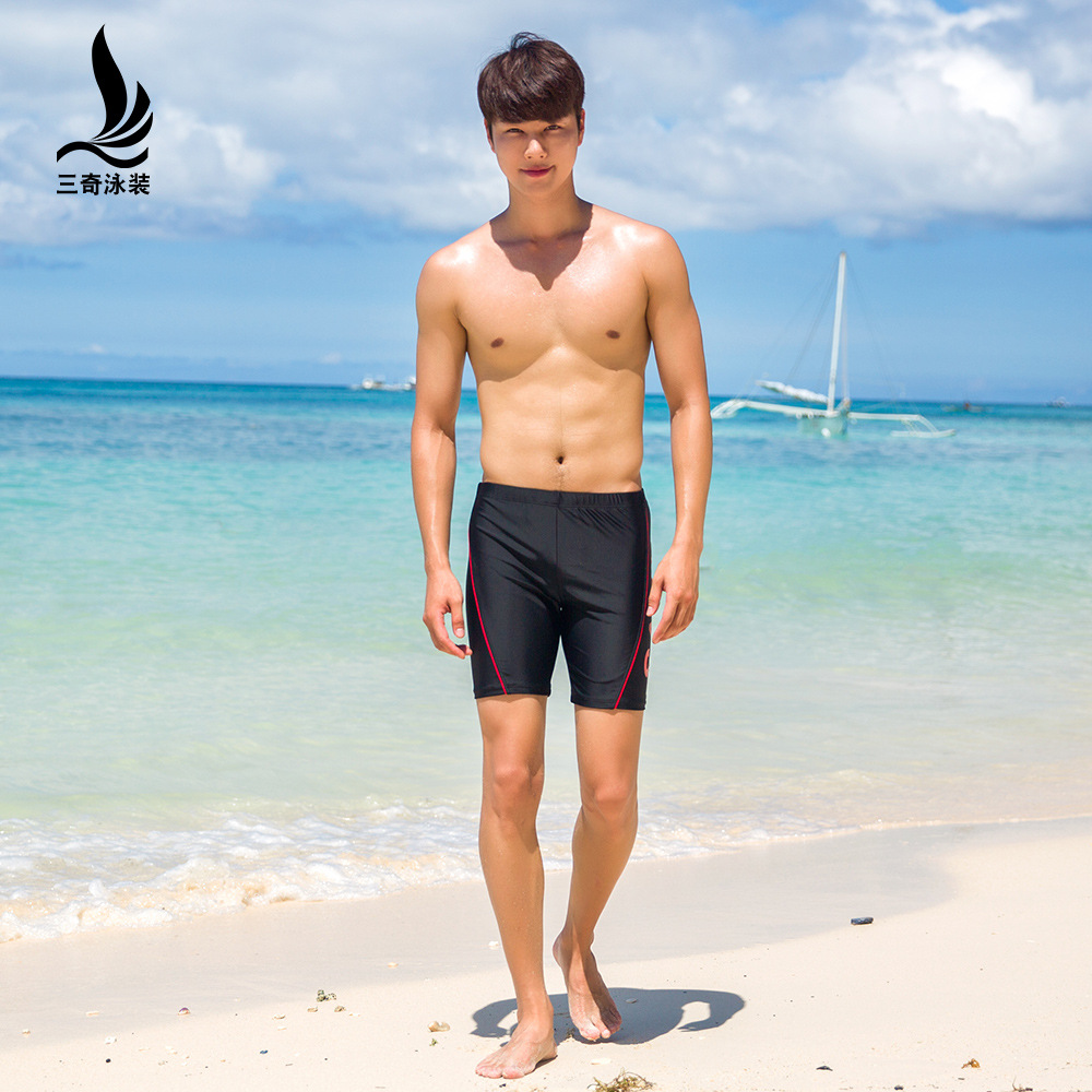 Manufacturers Direct Selling Sanqi Swimming Trunks Men's Boxer Fashion Plus-sized Loose-Fit Hot Springs Long Swimming Trunks