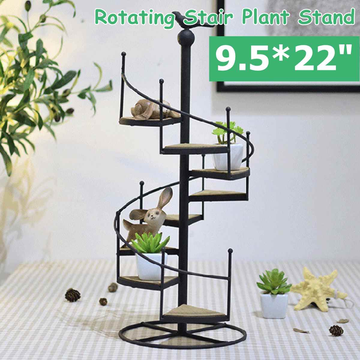 Tesisi raf dekoratif demir tesisi raf standı bitkiler etli raf 8 katmanlı merdiven şekli masaüstü bahçe çiçek standı