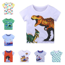 Fashion Kids Boys T Shirts Summer Short Sleeve T Shirt Cartoon Girls Tops T Shirt O-neck Cotton Toddler T Shirts 18 M- 6 T boys don t cry page 6