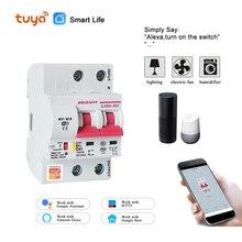 цена на Tuya( Smart Life) 2P 63A  WiFi Smart Circuit Breaker  overload short circuit protection  Amazon Alexa Google home for Smart Home