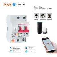 Tuya( Smart Life) 2P 40A WiFi Smart Circuit Breaker overload short circuit protection Amazon Alexa Google home for Smart Home