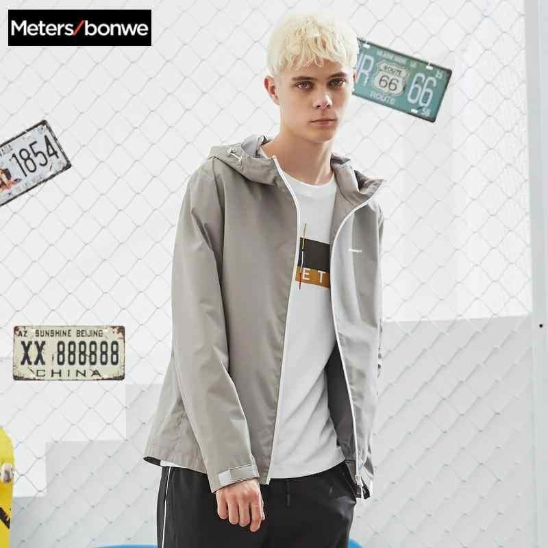 Metersbonwe 2020 春男性のカジュアルジャケット男性のファッションフード付きジャケットメンズオーバーコート野球のストリートトップス