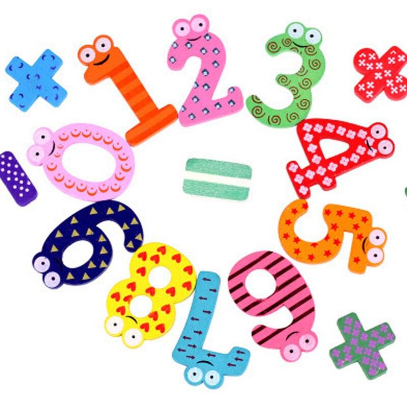 15pcs/set Montessori Baby Number Refrigerator Fridge Magnetic Figure Stick Mathematics Wooden Educational Kids Toys for Children(China)