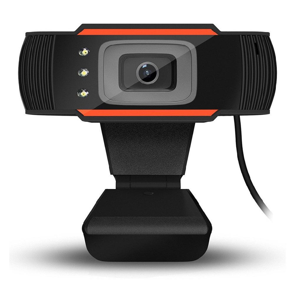 3 led Caméra Web 12MP 720P Webcam HD Caméra USB avec Micro pour Ordinateur Portable PC