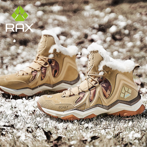 Image 3 - Зимние ботинки RAX для мужчин и женщин, флисовая походная обувь, уличные спортивные кроссовки, мужская горная обувь, треккинговые прогулочные ботинки