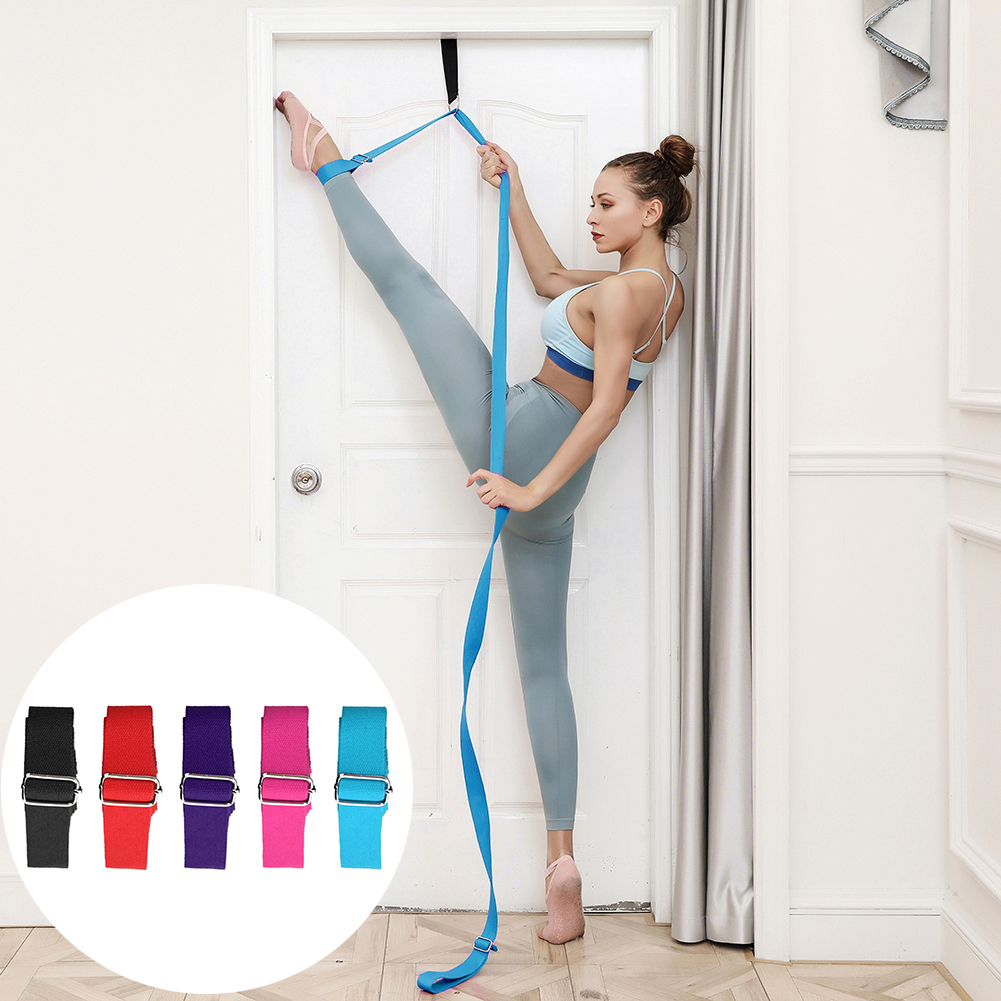 Door Flexibility Stretching Leg Stretcher Strap Adjustable Sports Yoga Ballet Band Exercise Soft Leg Belt for Gymnastics belt