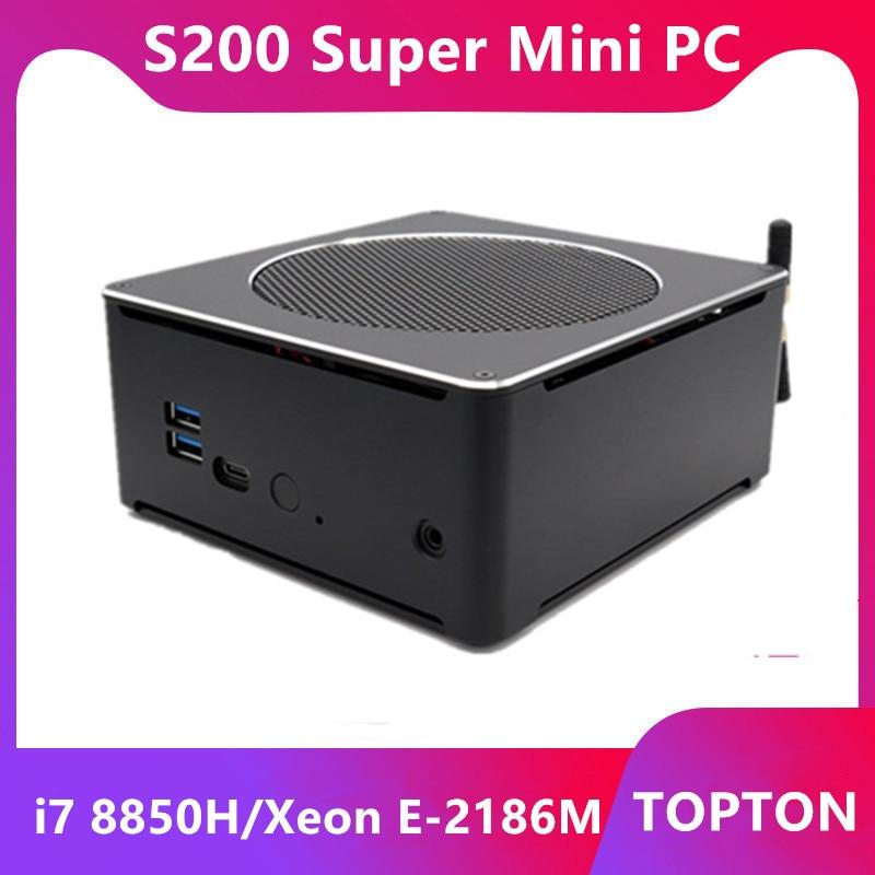 Super Mini PC Windows 10 Pro Key S200 Nuc I7 8850H Xeon E-2186M 6 Core 12 Threads 2*DDR4 I5 8300H AC Wifi Desktop Computer HDMI