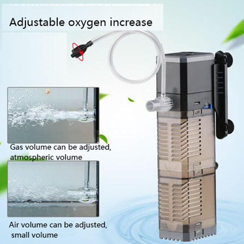 Super 4 In 1 Sunsun Internal Aquarium Filter Pump Fish Tank Multifunction Wave Maker Water Circulation Air Pump Filter 2