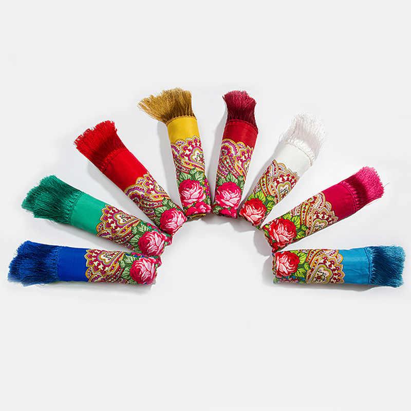 ロシアパシュミナレトロ花ハンカチ毛布ショール綿の正方形のスカーフタッセル冬ヘッドラップ女性バブーシュカスカーフ