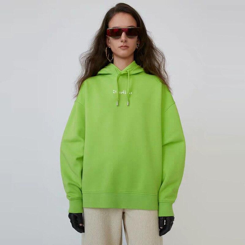 Spring Autumn Winter Bust Letter Logo Separate Hooded Pullover Loose Unisex Women Men Sweatshirt Hoodie A3