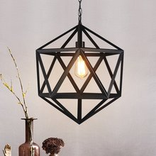 Retro industrial style country personality creative Rhombus chandelier lamps bar bar restaurant lights