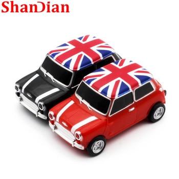 SHANDIAN  Car Model pendrive 4GB 8GB 16GB 32GB USB 2.0 USB Flash drive memory stick pen drive Gift U  free shipping