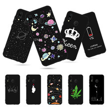 Cool Moon Space Phone Cases For Samsung Galaxy A70 A60 A50 A40 A30 A20 A20e A10 A2 Core Soft Silicone Cover Black TPU Coque Capa(China)