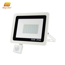 Reflektor LED 220V PIR Motion Sensor reflektory LED 10W 20W 30W 50W 100W zewnętrzna ściana reflektor oświetlenie wodoodporna lampa ogrodowa|Reflektory|Lampy i oświetlenie -