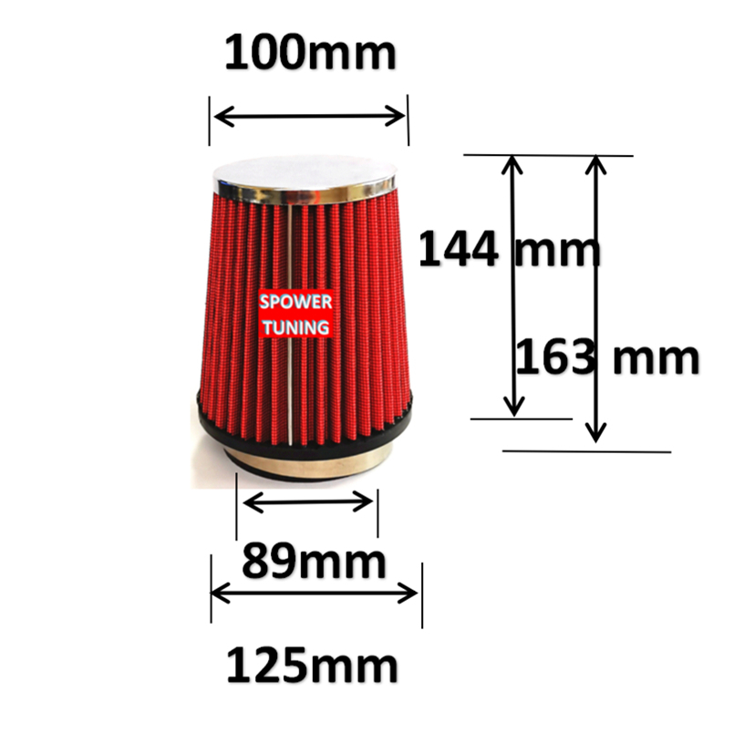 "RED 3.5/"" Inches Inlet Cold Air Intake Cone Dry Type TRUCK FILTER For Pontiac"