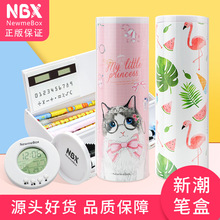 Cute Cat Penal for School Pencil Case Girls Boys Pencilcase Korean Creative Pen Box Big Cartridge Penalties Bag Stationery Pouch