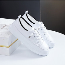 White Casual Sneakers Women Sport Shoes Fashion Breathable Lace up Walking  Running Shoes Ladies Flat Sneakers Shoes for Women