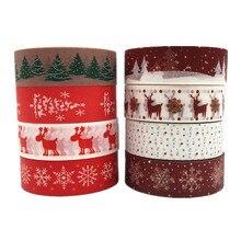 Ayron 1 шт. 15 мм X 10 м Снежный олень Рождественская Елка декоративная васи лента DIY Скрапбукинг маскирующая лента для школы и офиса