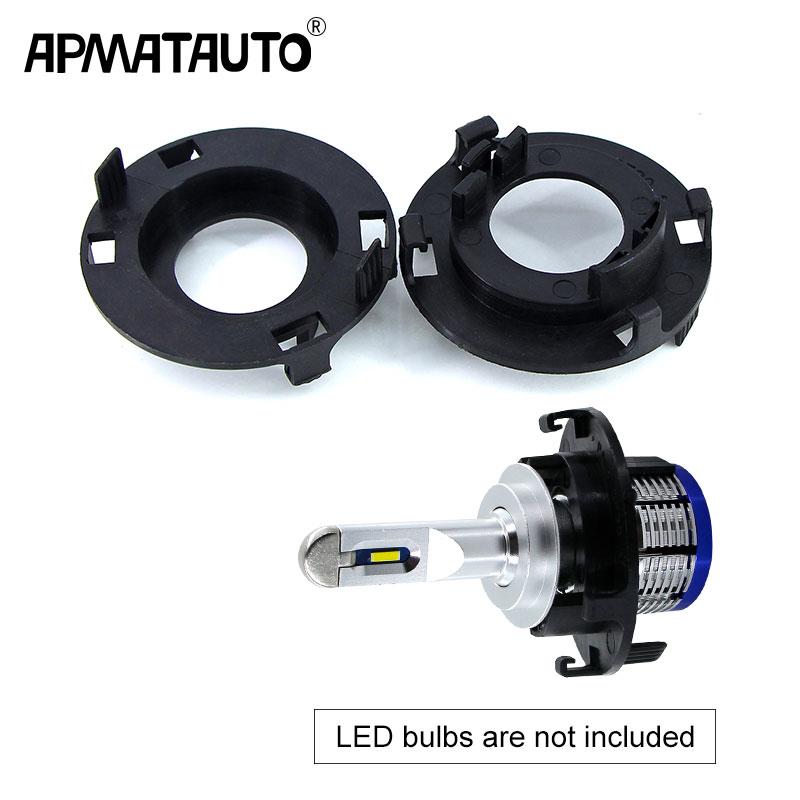 2Pcs H7 For LED Bulbs Headlight Holder Conversion Light Adapter Lamp Base For KIA K6 2016/Hyundai/Tucson