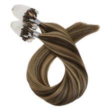 Moresoo Remy волосы для наращивания на микро кольцах, человеческие волосы 16-24 дюйма, бразильские волосы на микро петлях# P4/27 1 г/прядь 50 г, прямые
