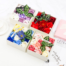 Soap Rose Artificial Flowers Christmas Decorations For Home Party Gift With Box Birthday & Valentine's Day Supplies недорого