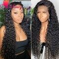 360, парик на сетке спереди, волнистые человеческие волосы, Sdamey HD, прозрачный, 13 × 4/13 × 6, фронтальный парик с глубокой волной, длинный бразильск...