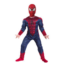 Traje Spiderman Spider Man traje rojo negro Halloween disfraz adultos niños Spiderman disfraz niño Cosplay ropa(China)