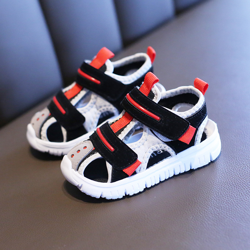 Summer baby sandals for girls boys soft bottom cloth children shoes fashion little kids beach sandals toddler shoes 4