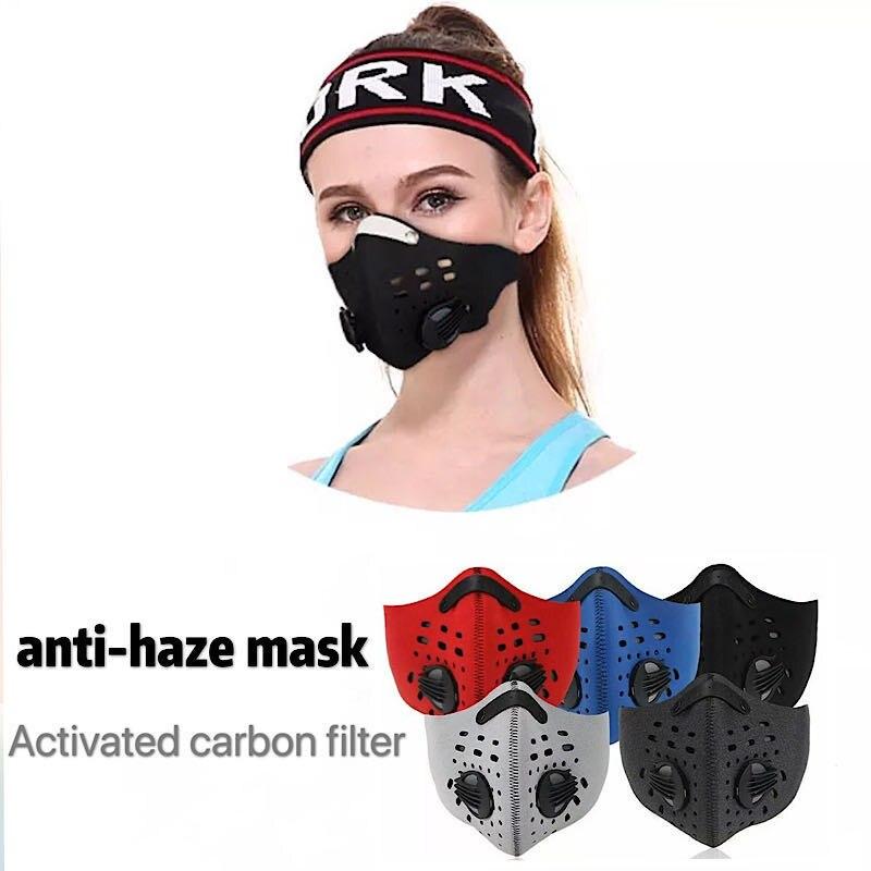 Respirator KN95 N95 Filter Voor Vervuiling Pollen Allergie Houtbewerking Running Wasbaar Neopreen Mask Fashion Masker N95