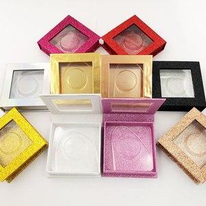 Image 5 - 20pcs wholesale false eyelashes packaging box fake 3d mink lashes boxes faux cils strip diamond magnetic case empty