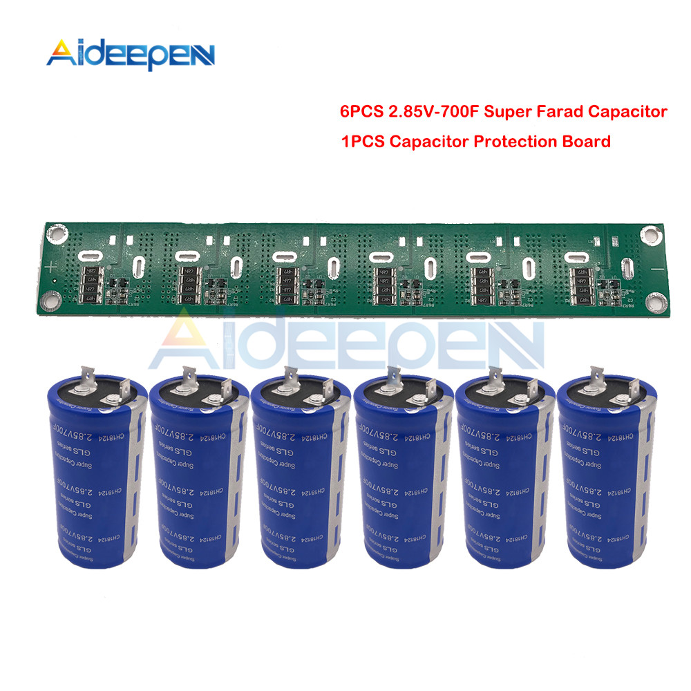 Super Farad Capacitor 2.85V 700F 35*72mm High Frequency Low ESR Flat Feet 2.85V700F Single Super Capacitor With Protection Board