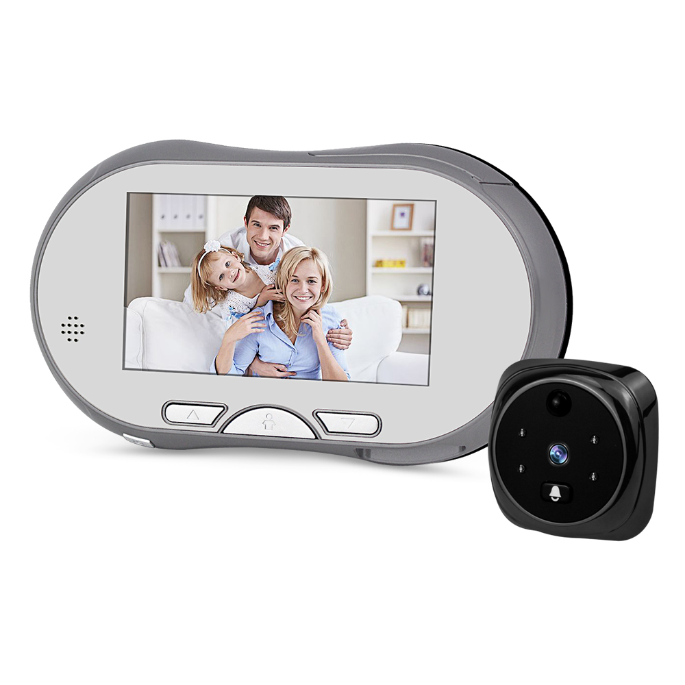 3.5 Inch HD Video Peephole Camera Digital Door Viewer Doorbell 160 Degree Angle Peep Holes IR Night Vision PIR Motion Detection