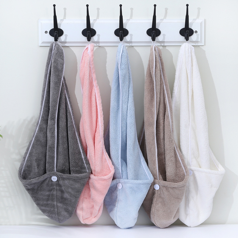 Женское супервпитывающее быстросохнущее утолщенное банное полотенце из микрофибры для ванной комнаты, шапочка для сушки волос, полотенце ...